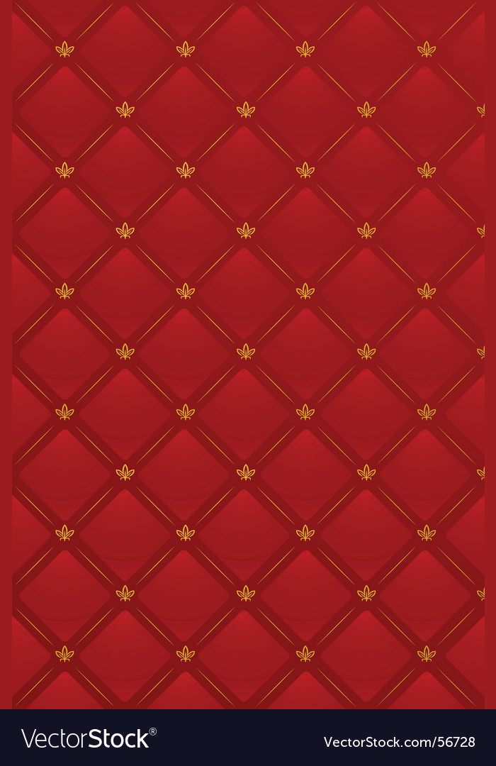 Of red leather background vector