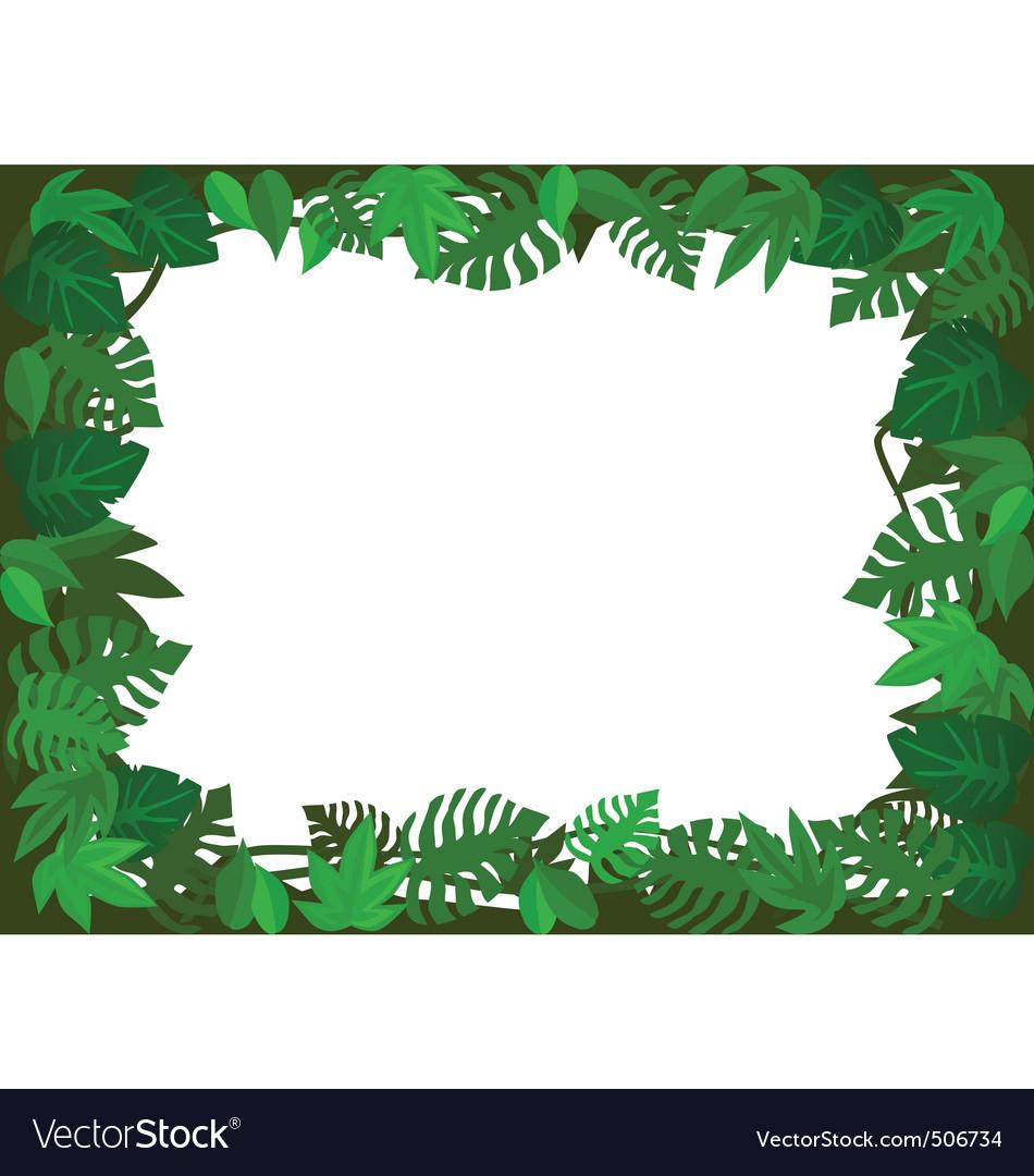 Green Leaf Frame Vector By Dagadu Image 506734