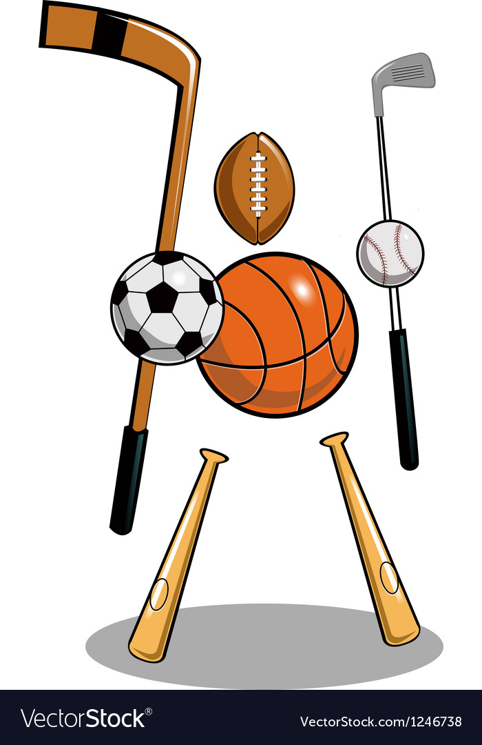 Sports freak thumb vector