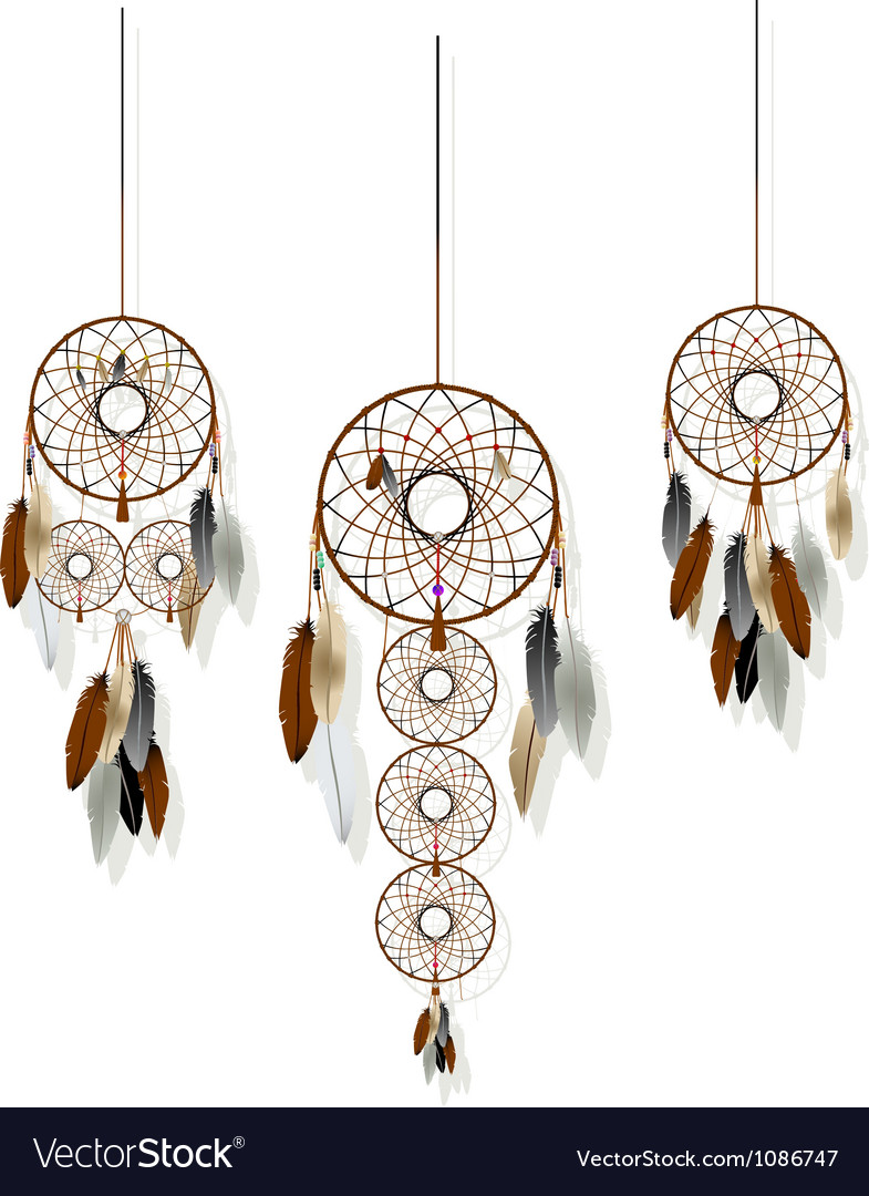 Dreamcatchers set vector