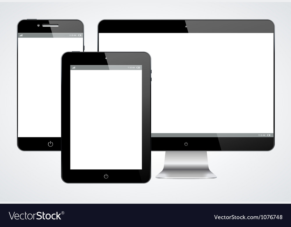 Realistic modern gadgets vector