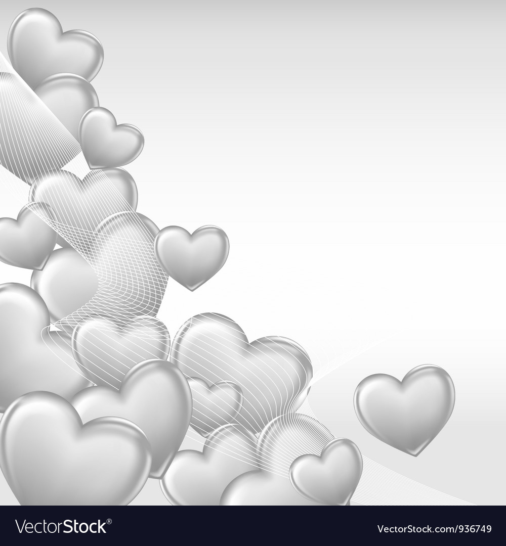 Stylish beautiful valentine day heart background vector