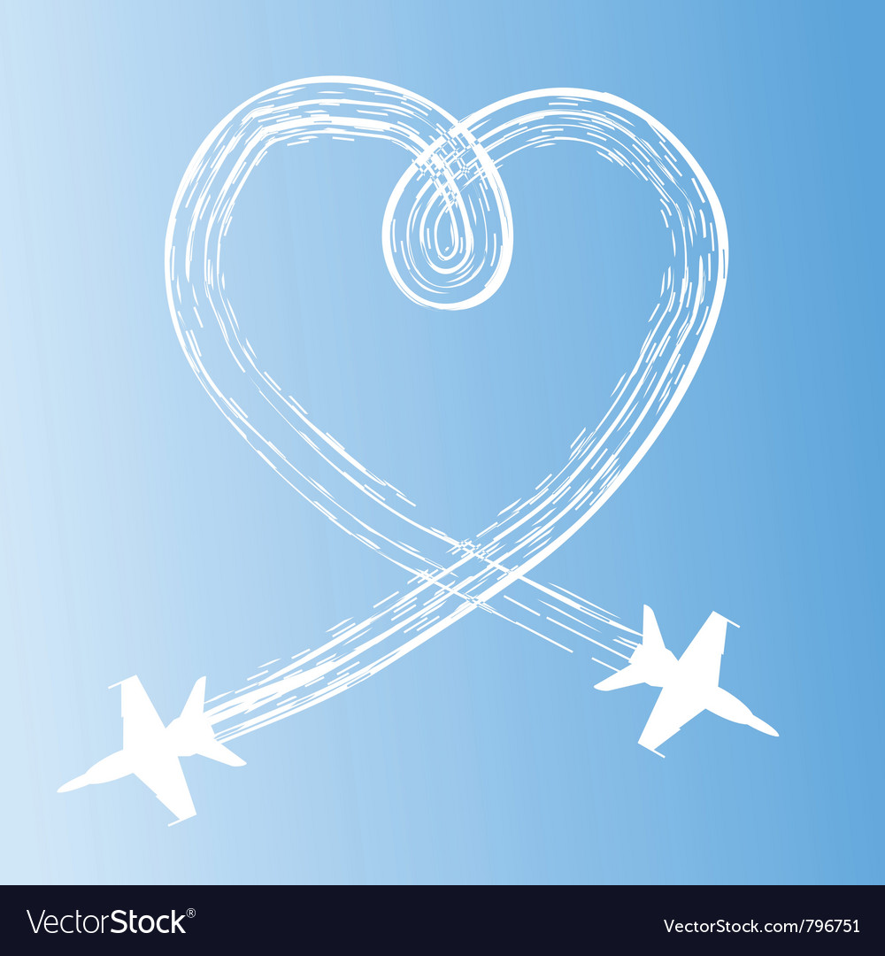 Heart in the sky vector