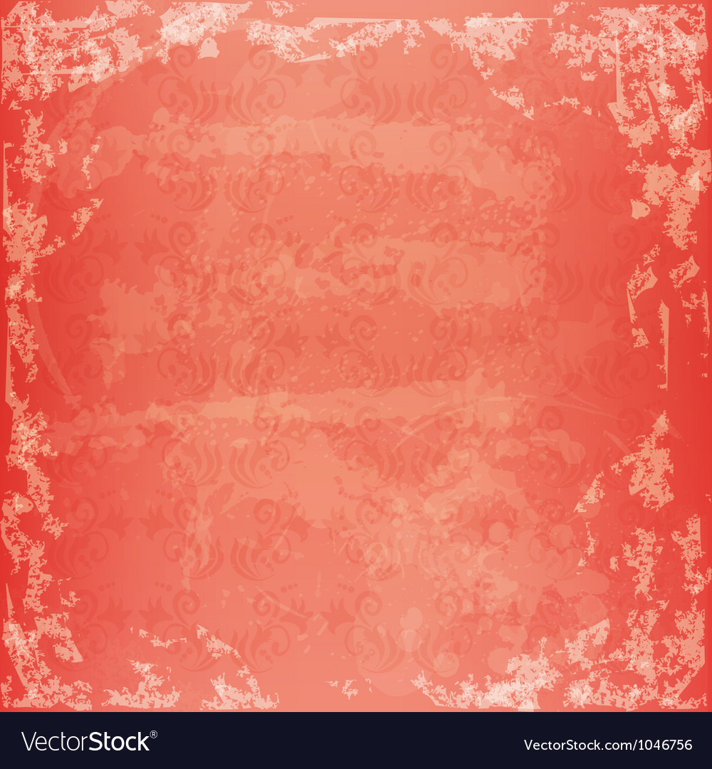Summer grunge texture with ornament vector