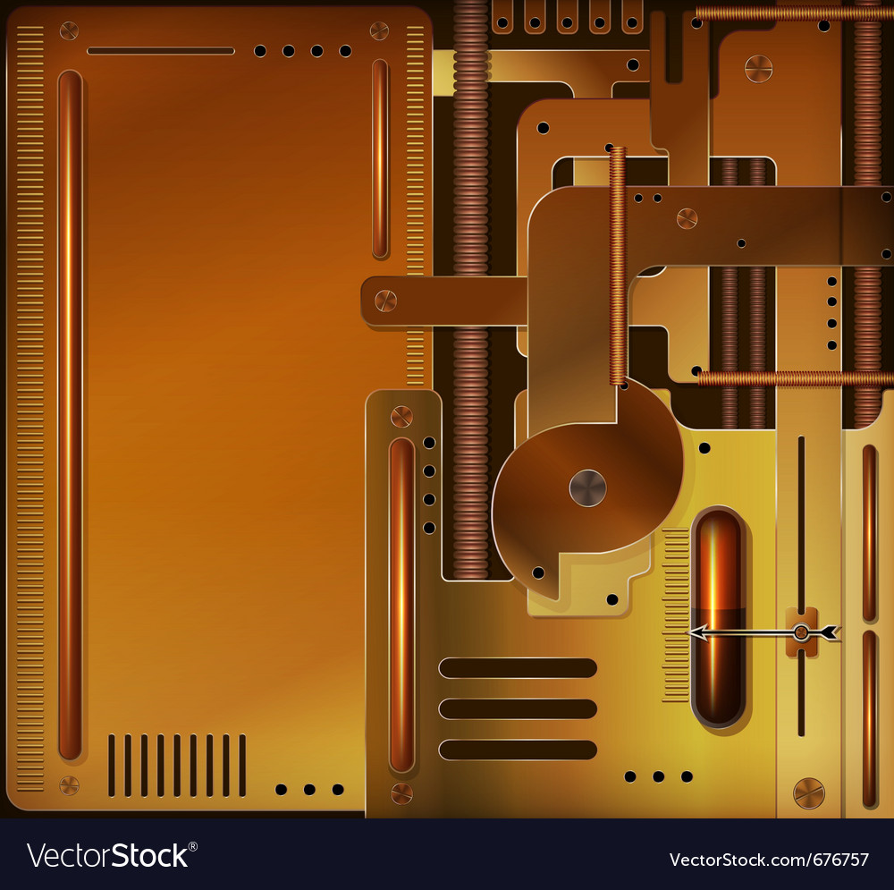Steampunk style vector