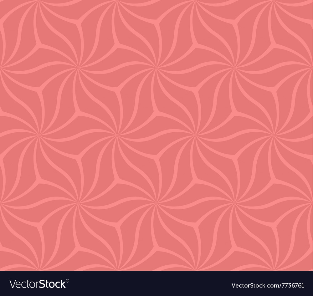 Coral seamless abstract curved pattern background