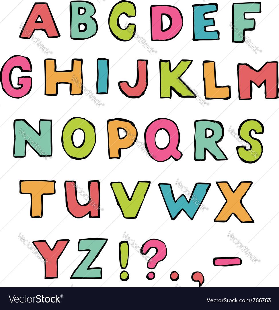 Z Alphabet Images Font a to z alphabet vector by lattesmile - Image #766763 ...