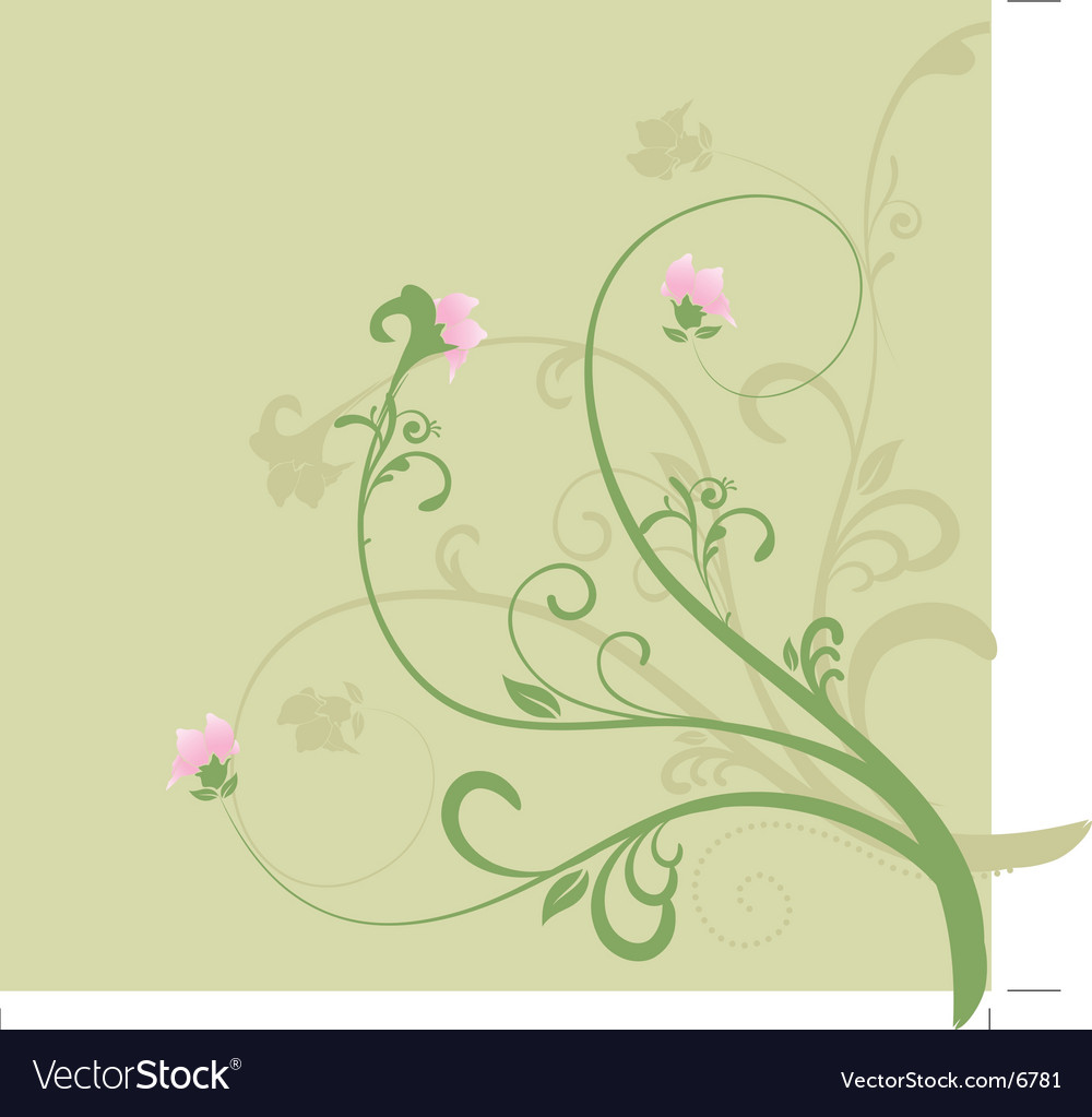 Free spring floral vector