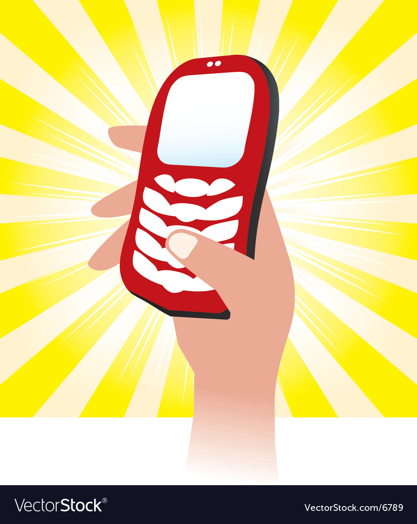 Cellphone icon vector