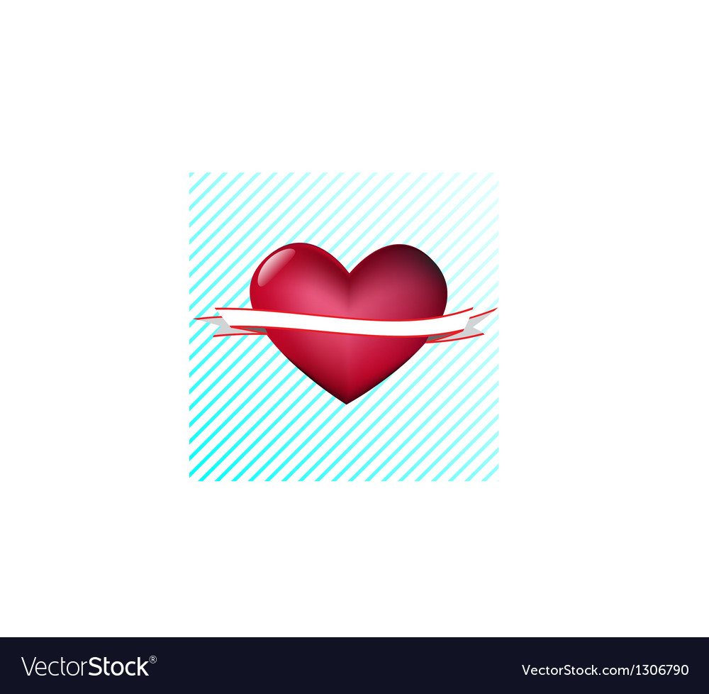 Heart with tape vector