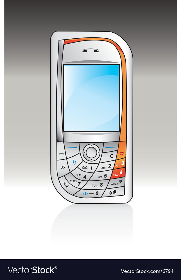 Cellphone vector