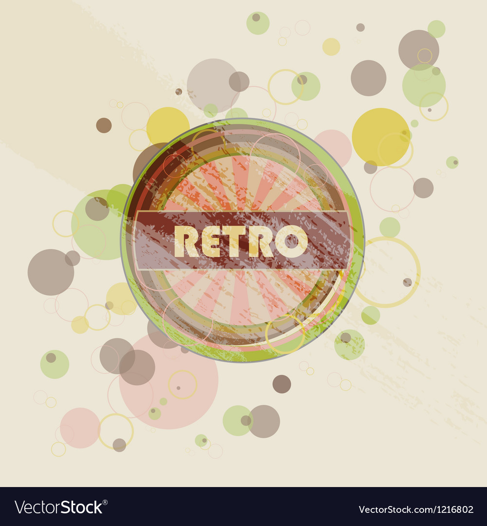 Abstract creative retro labels background vector