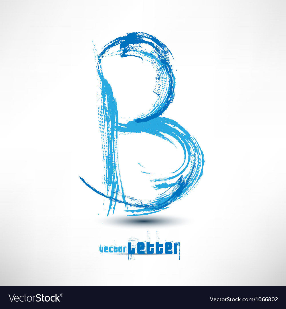 Drawn by hand letter grunge wave vector