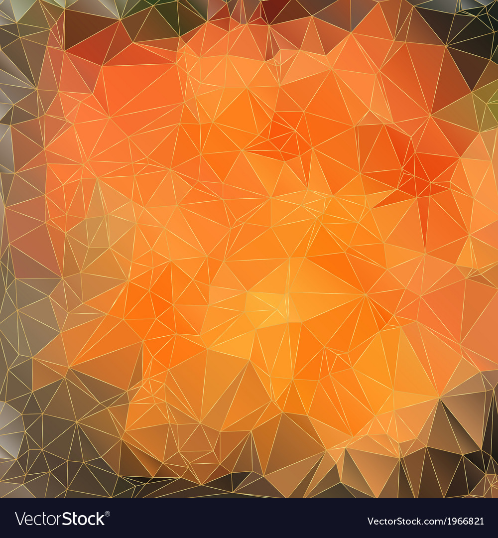 Abstract orange background with triangles vector