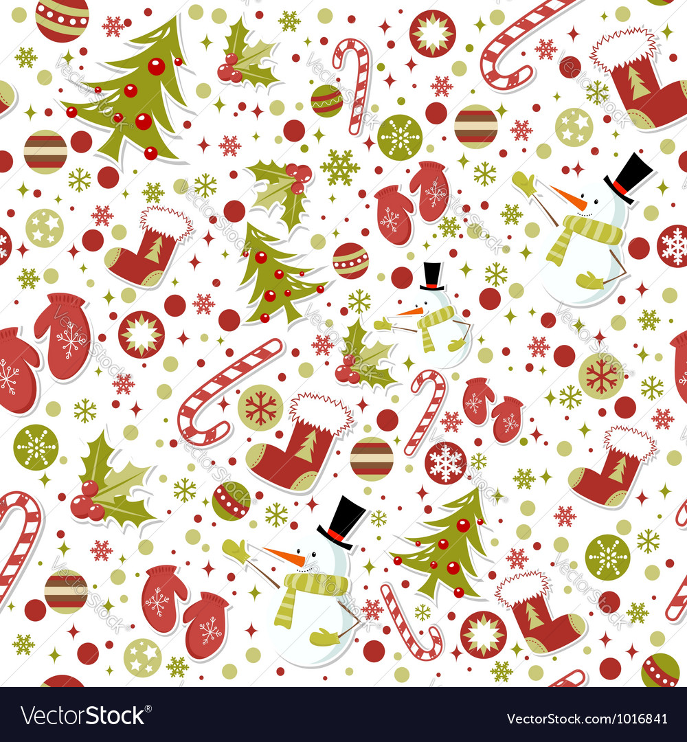 Seamless pattern with christmas elements vector by Yuzach - Image ...