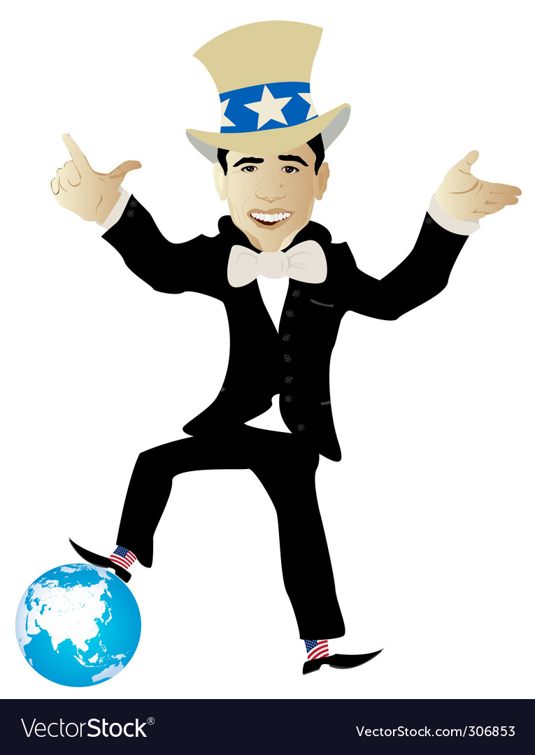 Politician globe vector