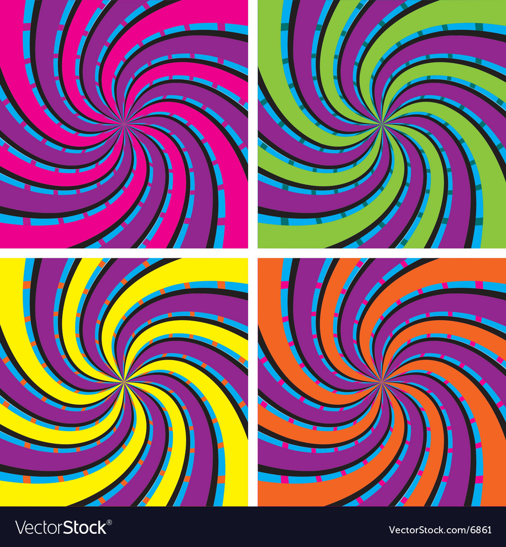 Acid swirls vector