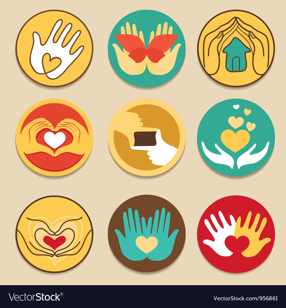 Collection of love signs vector