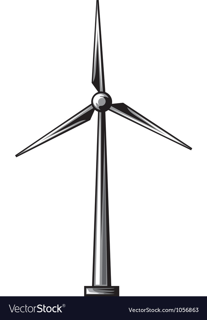 Wind turbine wind driven generators vector by Tribaliumvs - Image ...