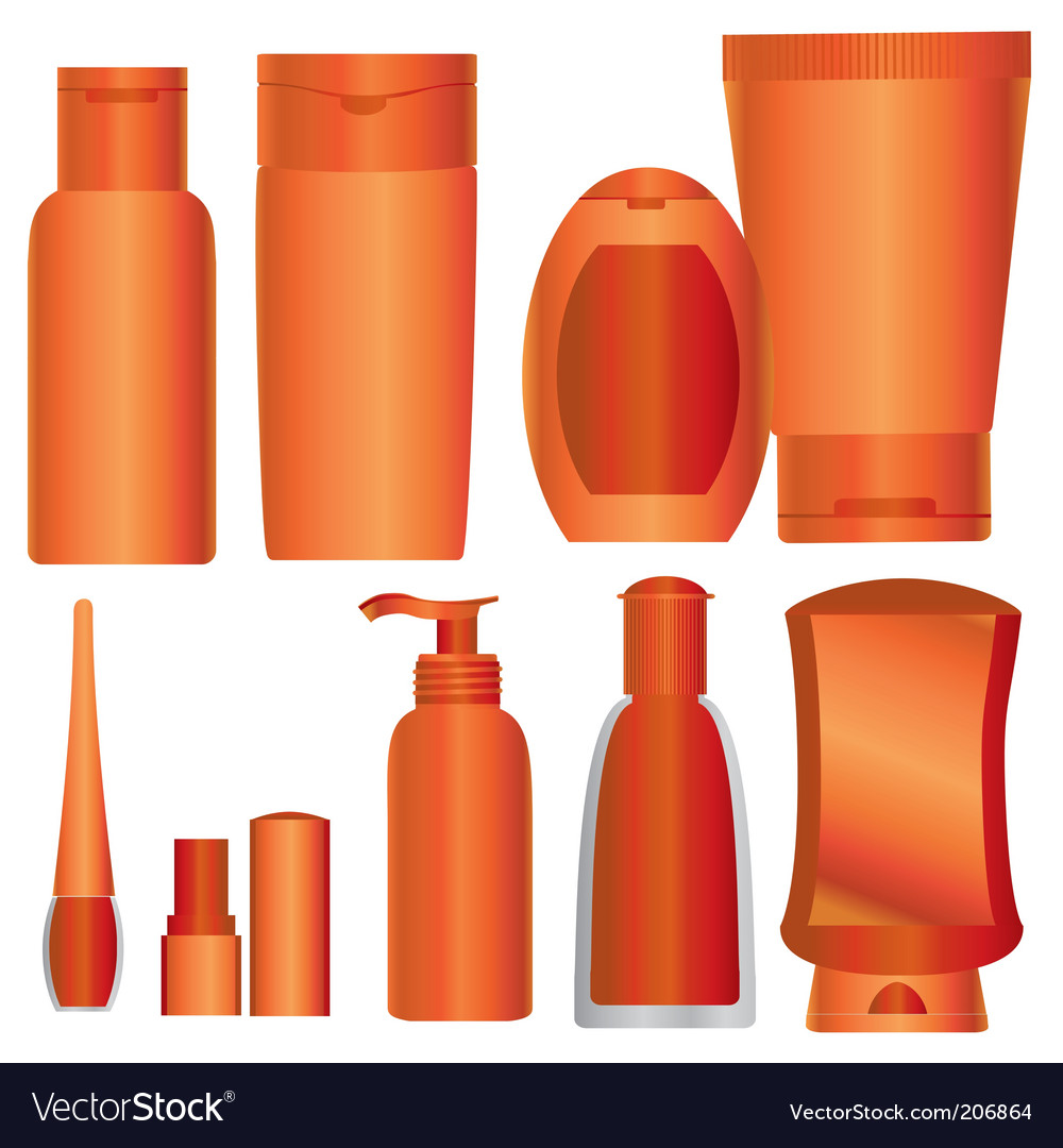Cosmetics packages vector
