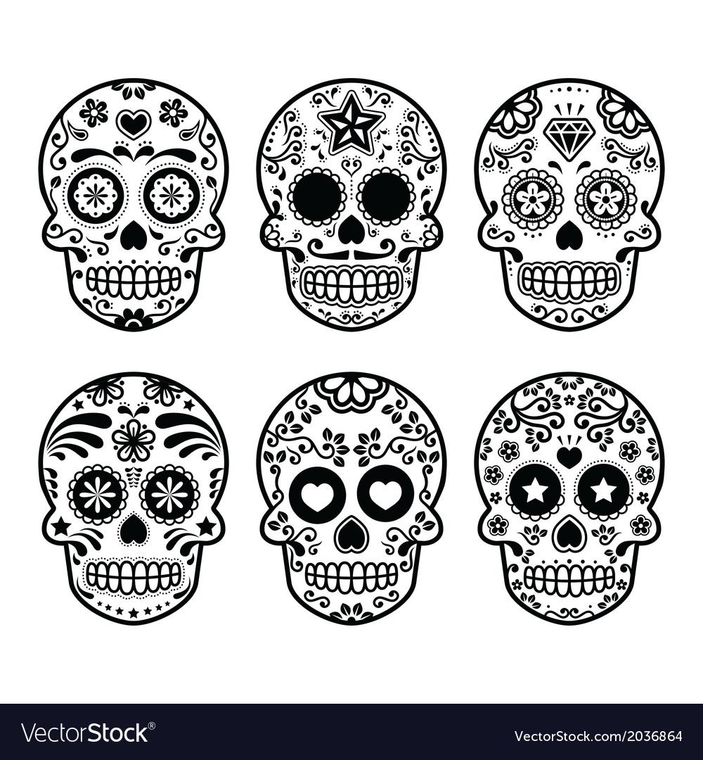 Day of the dead sugar skull template mexican sugar skull dia de los
