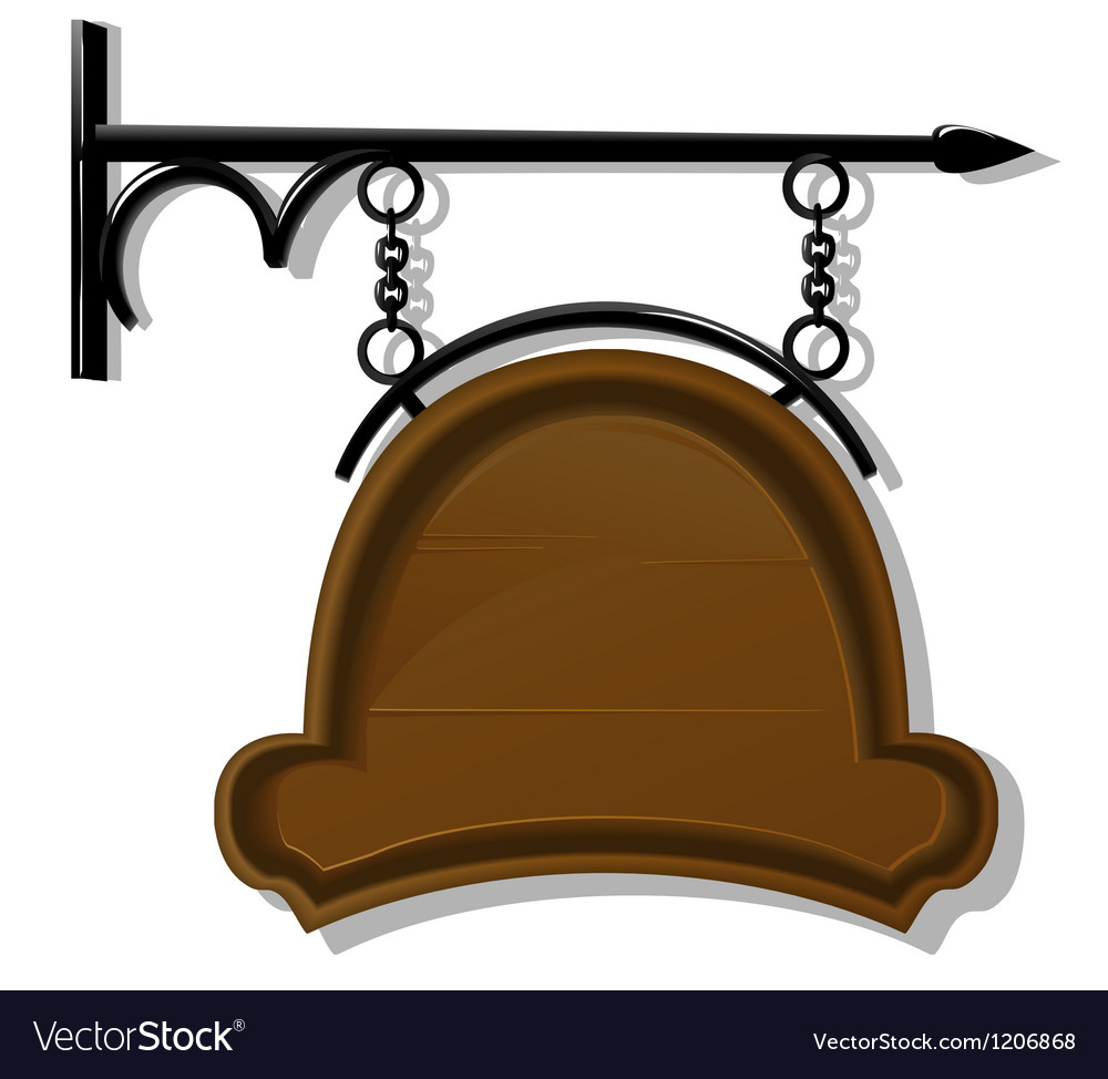Antique signboard vector