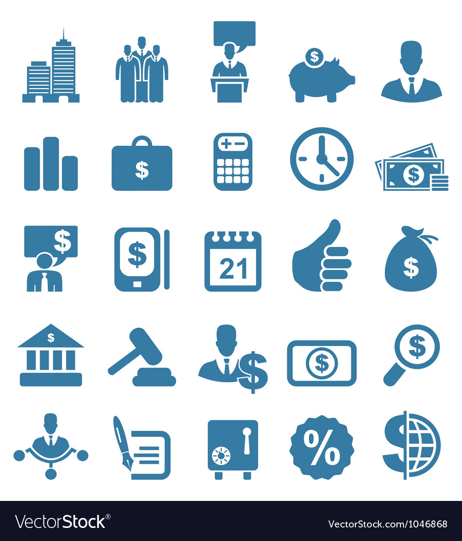 Icon business7 vector