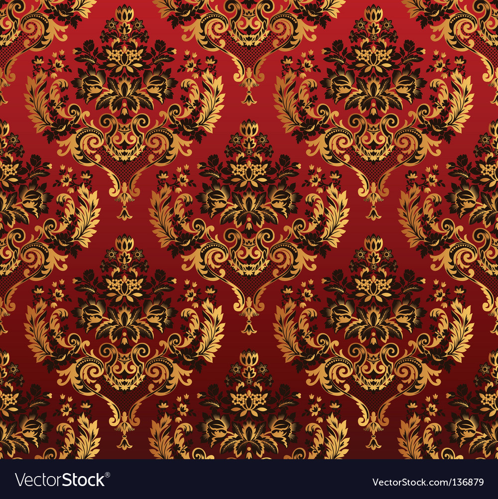 Floral red pattern vector