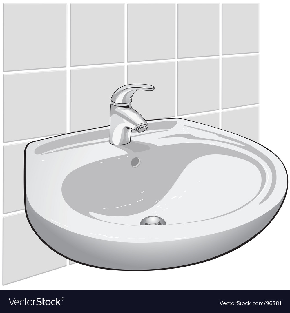 Single lever sink mixer vector