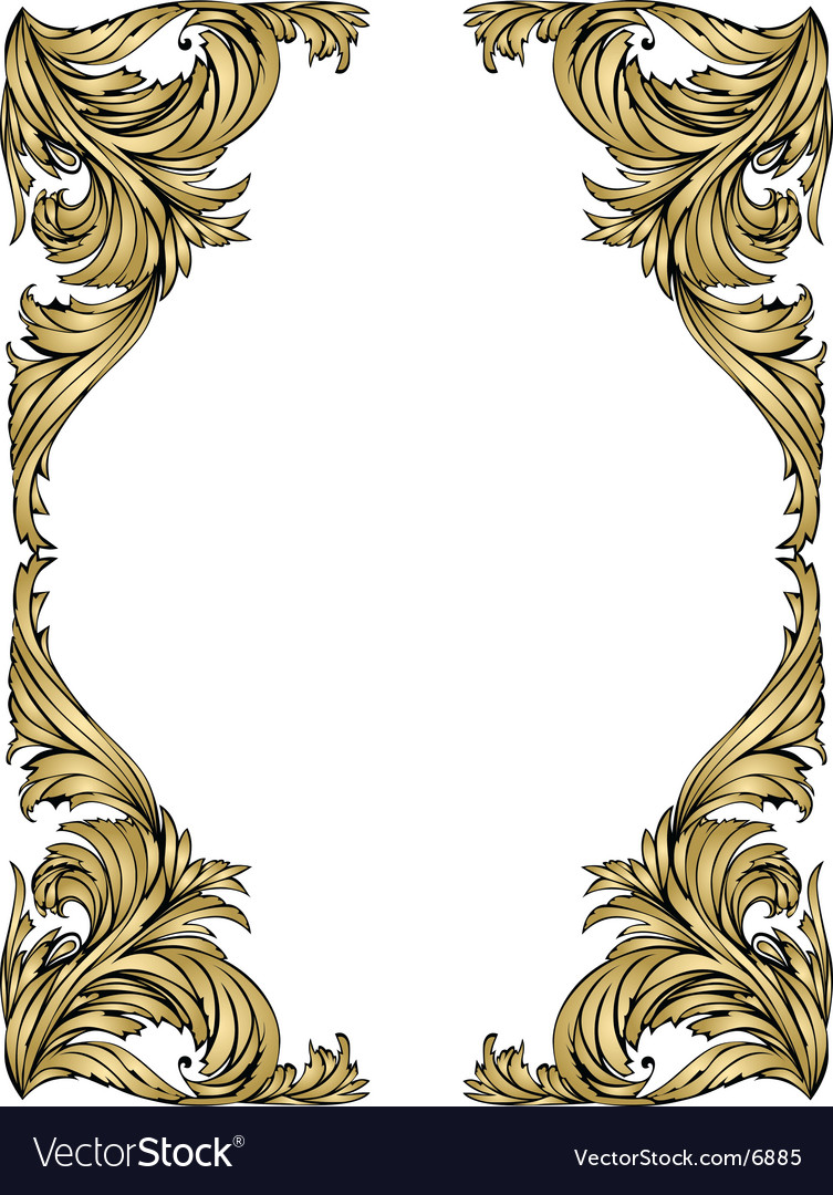 Gold frame vector by budazhok - Image #6885 - VectorStock