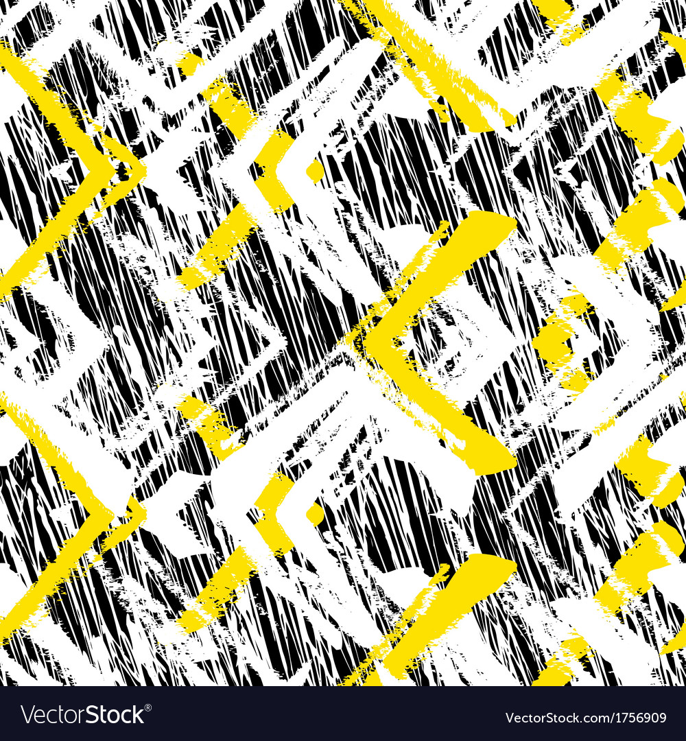 Hand drawn pattern with brushed zigzag line vector by tukkki ...