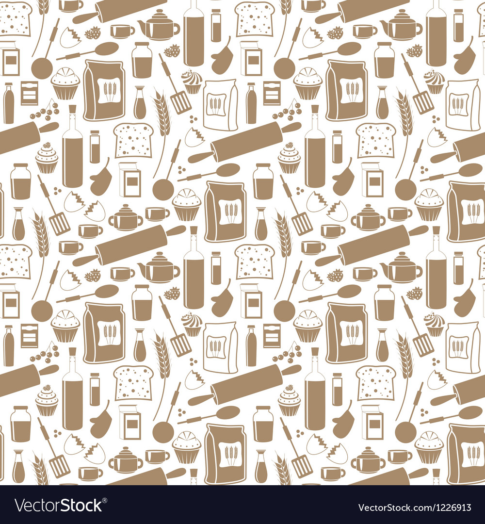 Seamless products pattern vector