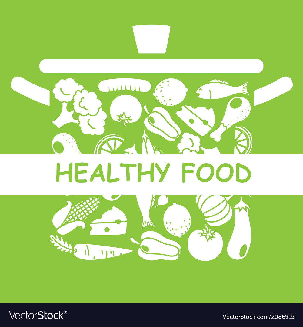 Healthy food vector by sbego image 2086915 vectorstock