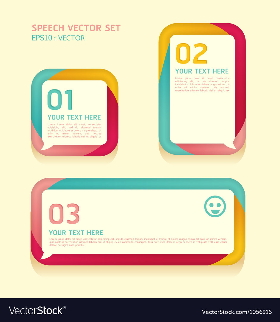 Banner speech bubbles soft color vector