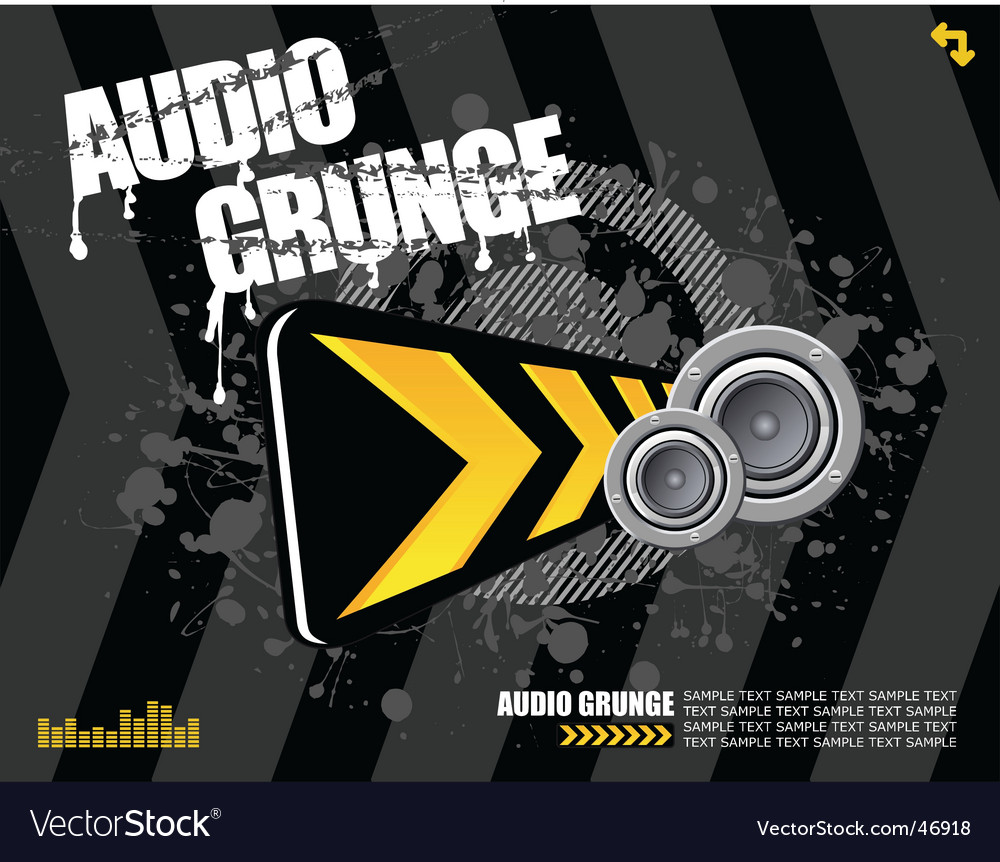 Audio grunge vector