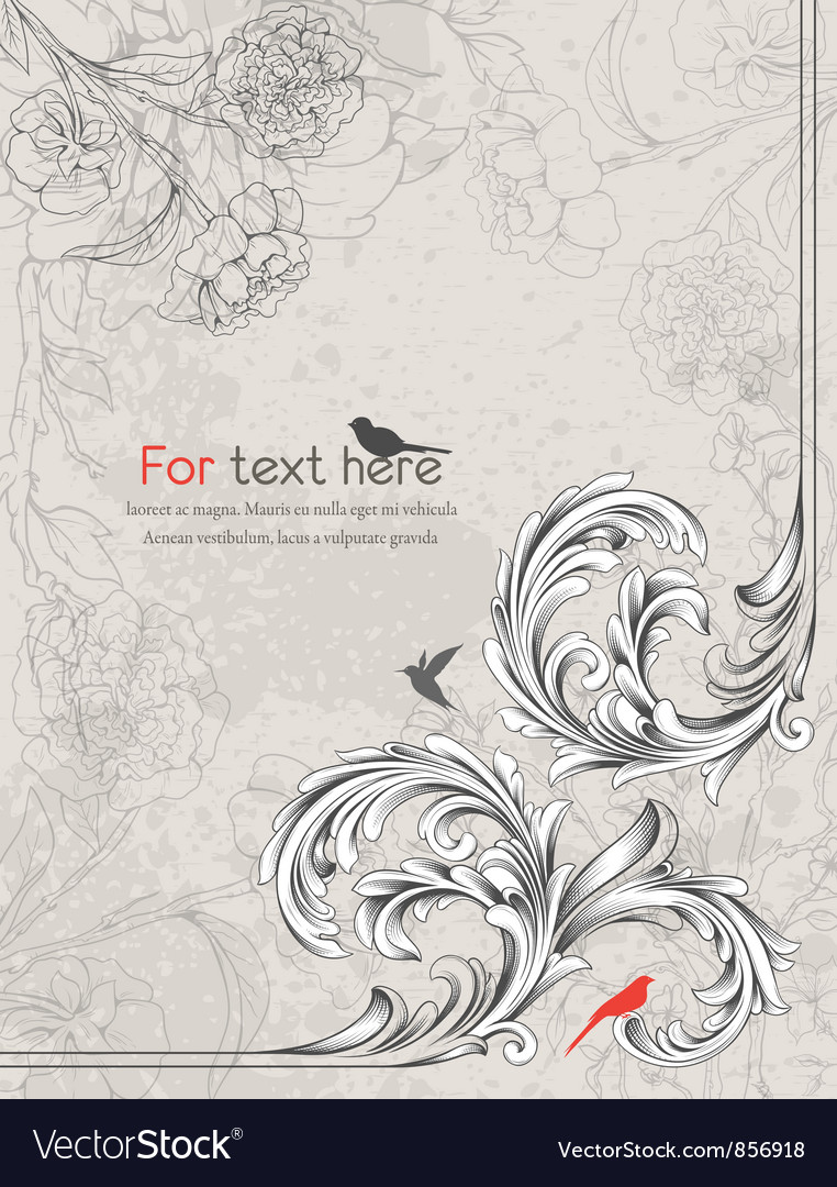 Free vintage floral background vector