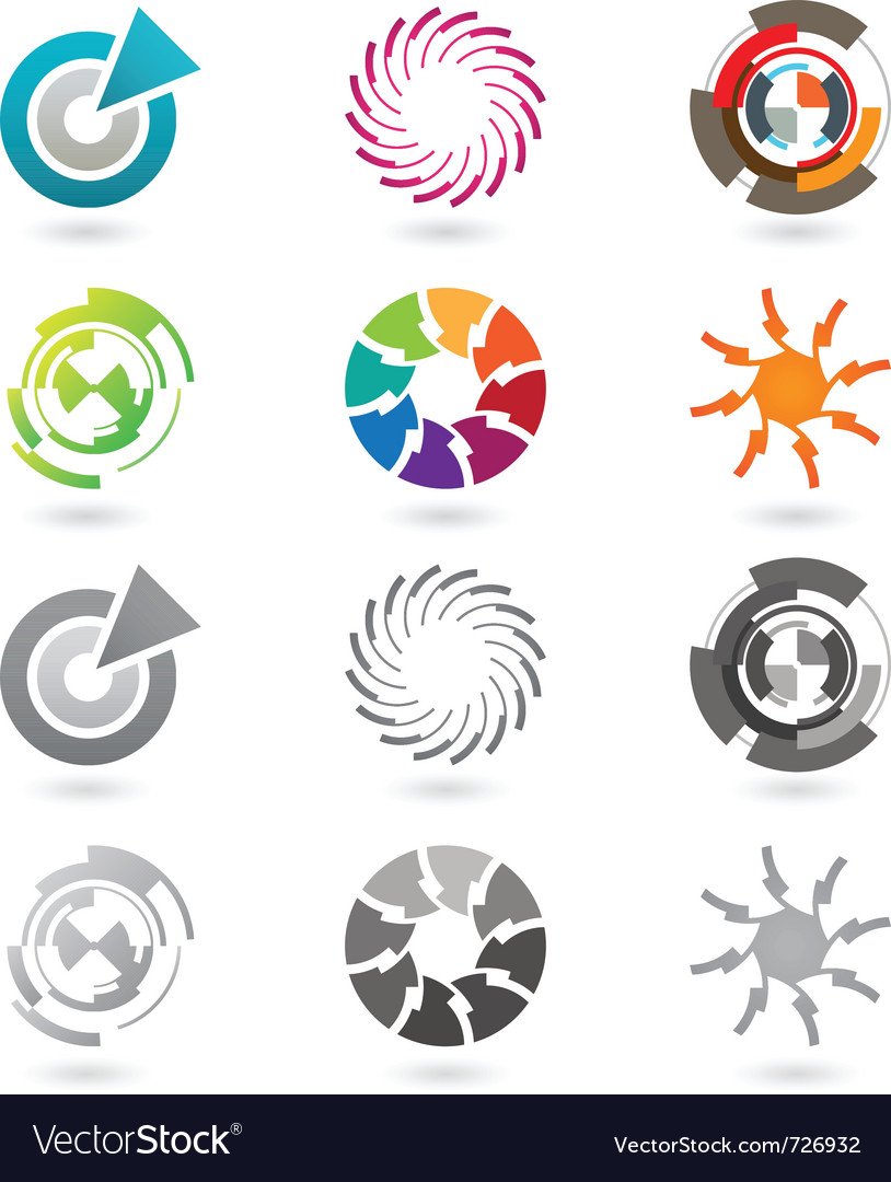 Modern icons or logo elements vector