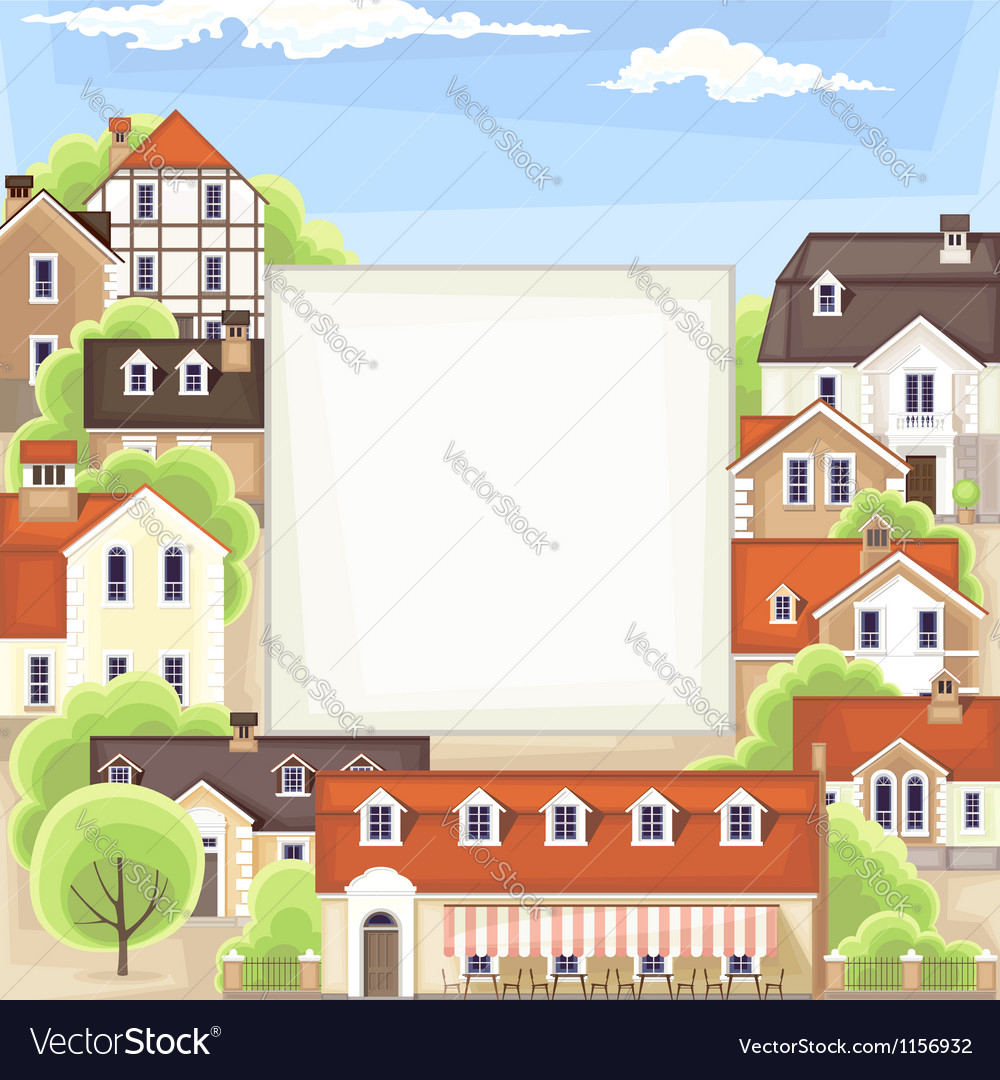 Old town background vector