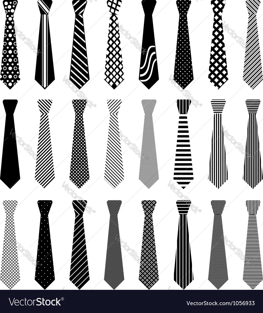 Men tie vector