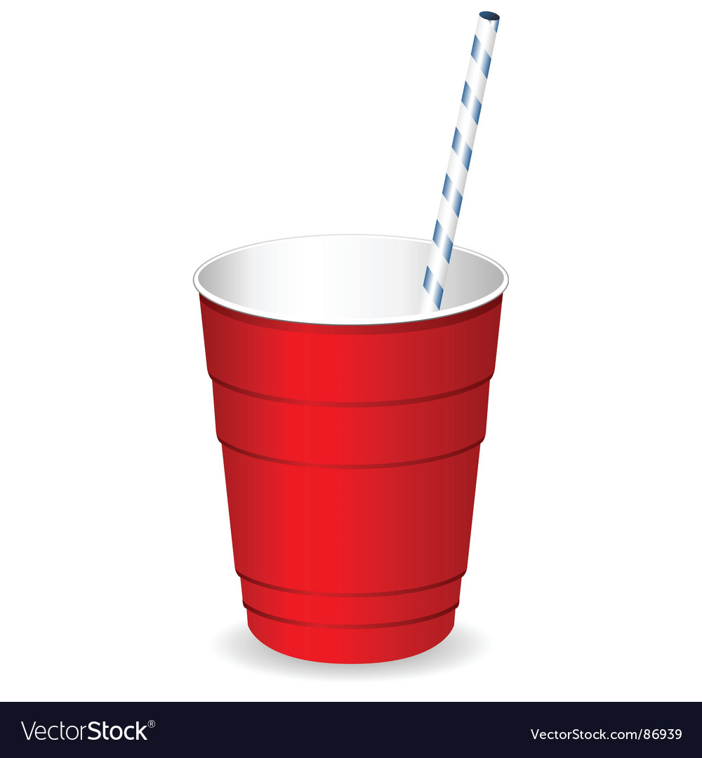 Plastic party cup vector