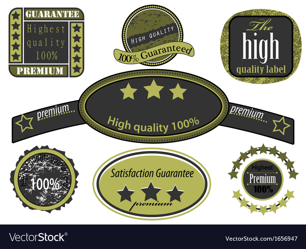 Collection high quality label vintage style vector