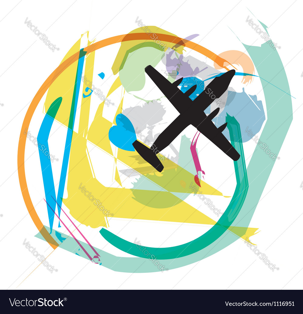 Abstract airplane vector