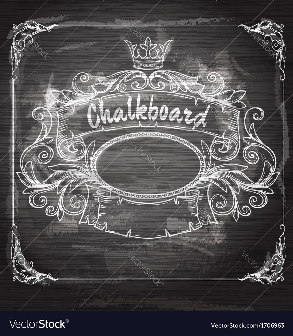 Vintage banner and chalk board vector