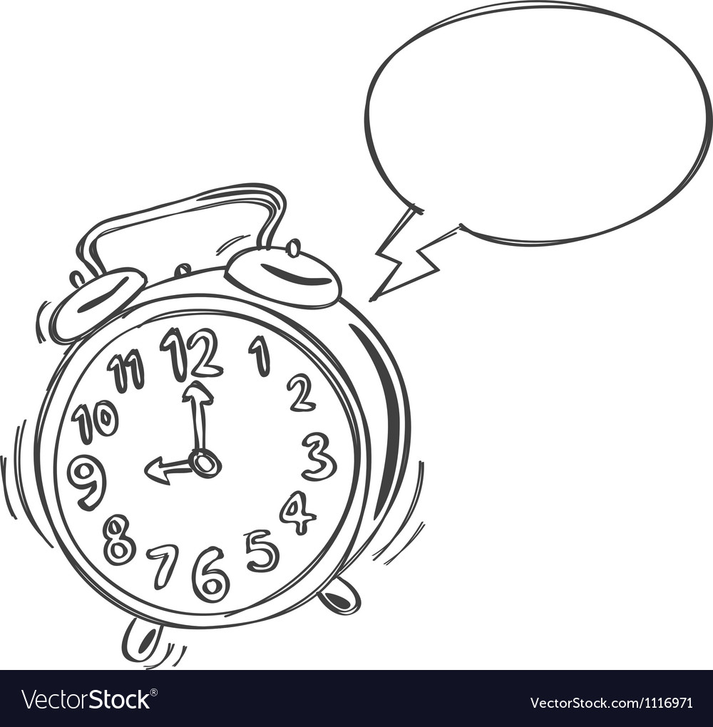 Alarm clock bubble speech vector