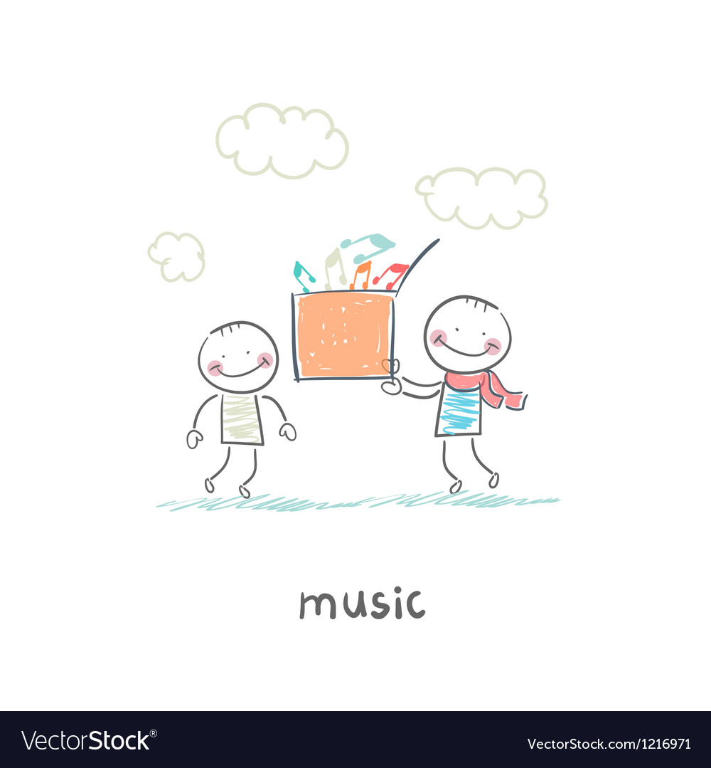 Musical gift vector