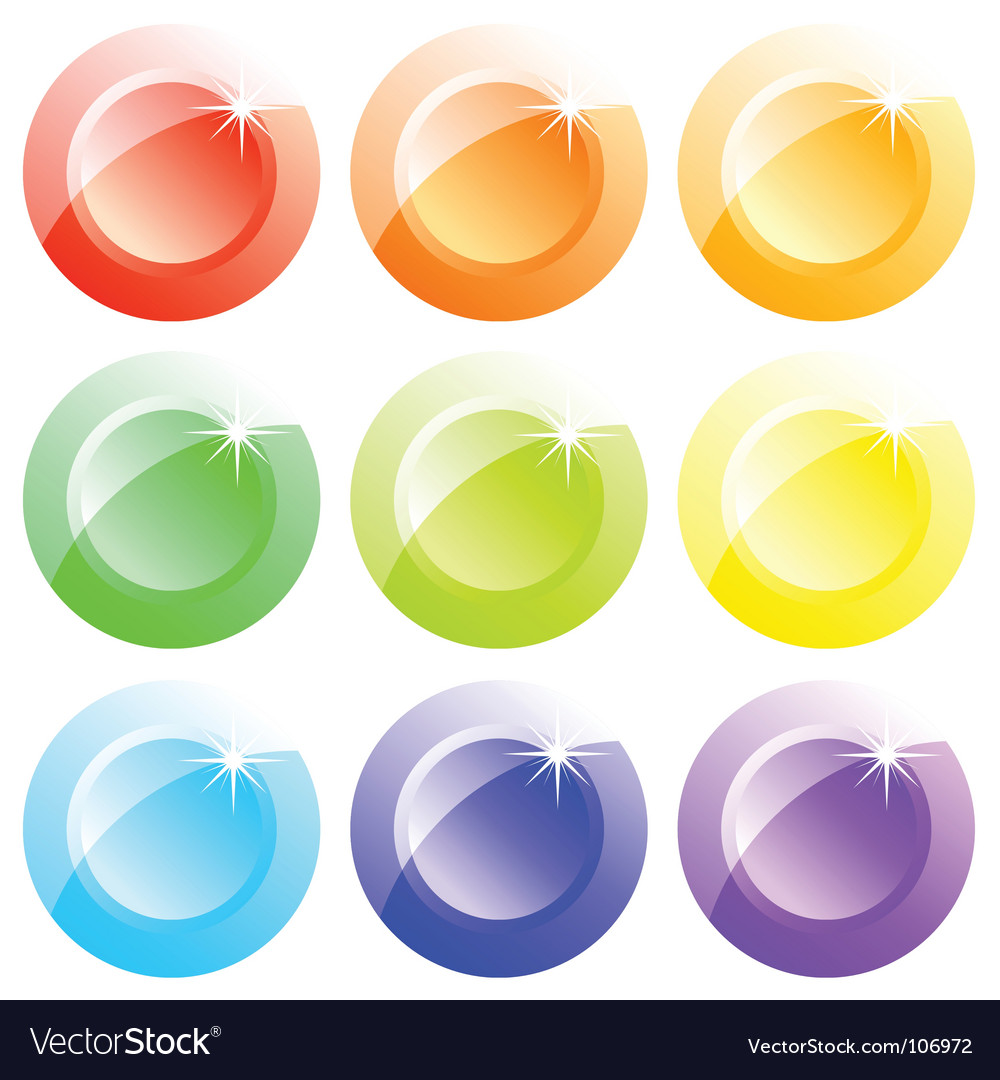 Buttons colored vector