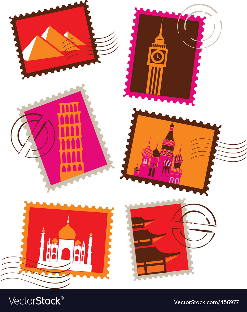 Travel and vacation stamps vector
