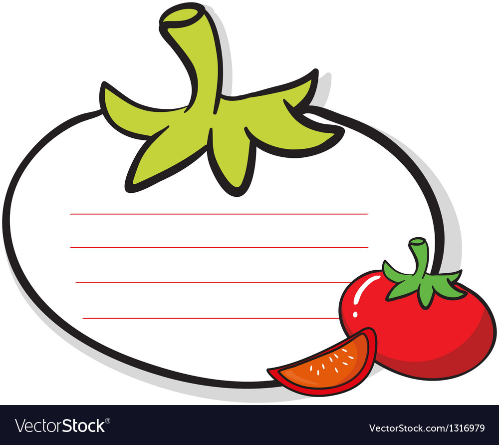 A tomato designed stationery vector