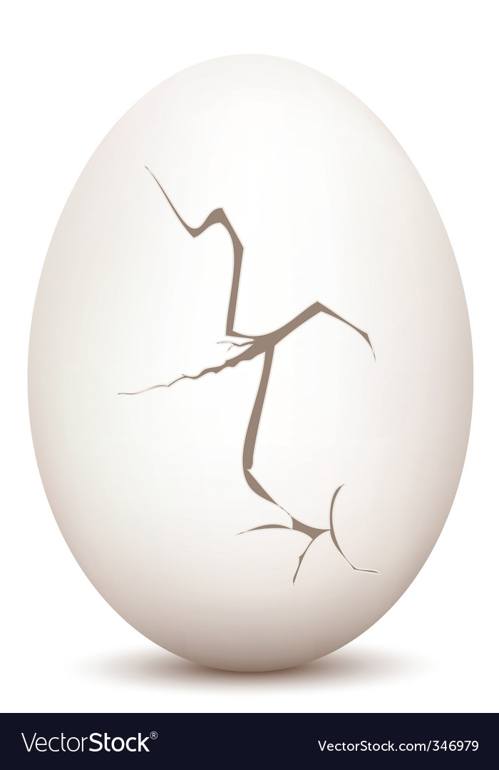 Cracked Egg Vector By Get4net Image 346979 Vectorstock