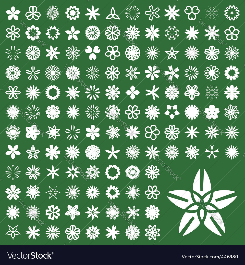 Floral pictogram vector